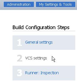 VCS settings setup