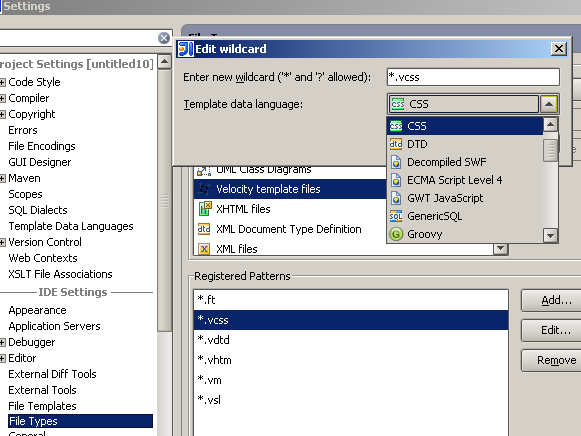 Determining Template Data Language by a File Extension | IntelliJ ...