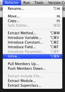 RubyMine 1.5 refactorings