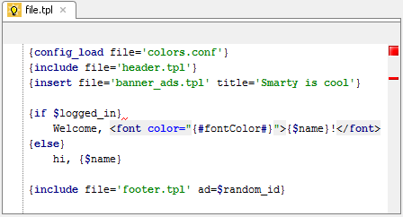 Smarty templates editing support in Web IDE | PhpStorm Blog