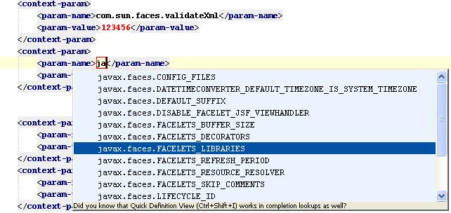 web.xml context-param completion