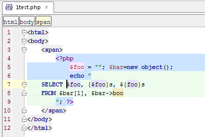 phpstorm webstorm eap build 95 74 phpstorm blogphp editor got customized highlighting for \u003c?php ?\u003e tags and whole scripting regions