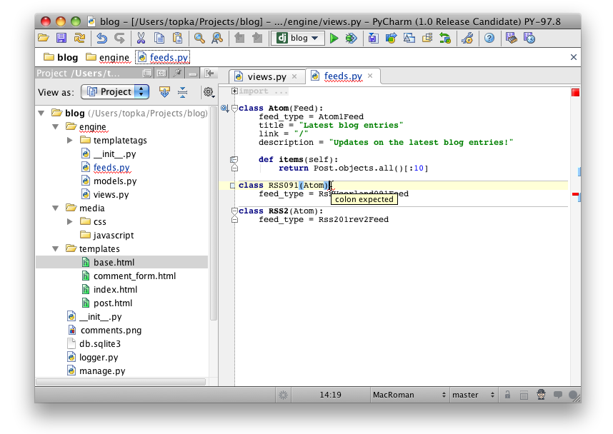 JetBrains PyCharm 1.0 for Mac