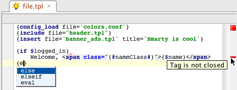 Smarty syntax highlighting in PhpStorm IDE