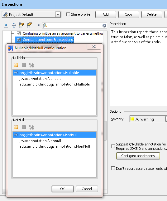 More flexible and configurable @Nullable/@NotNull
