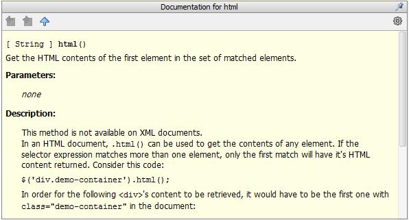 jQuery API documentation at your fingertips | WebStorm Blog