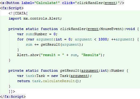 flex example code