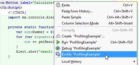 Profiling CPU in Flash and Flex Applications in IntelliJ