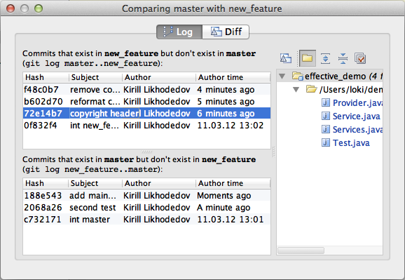 Simpler and more powerful UI for Git branches | IntelliJ