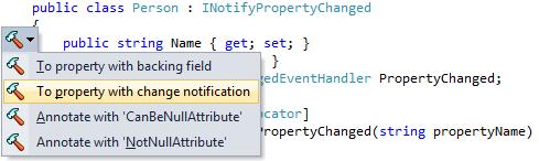 INotifyPropertyChanged Support in ReSharper 7 -  NET Tools