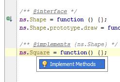 Quick fix(Alt+Enter) automatically implements all methods.