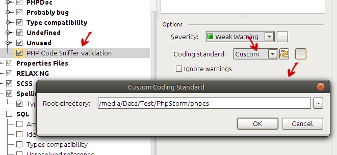 Select Custom In Coding Standard Combo Box And Click On Next To The Field You Will Get Dialog Which Allows Give A
