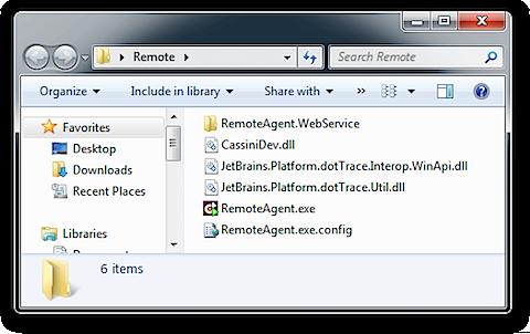 dotTrace Remote Agent directory