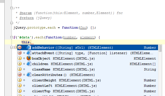 jsdoc templates - validating javascript code with jsdoc types annotations