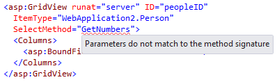 ReSharper issues a warning it SelectMethod parameter type doesn't match that of ItemType
