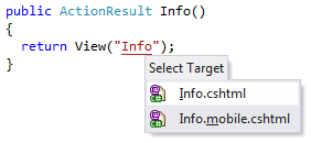 ReSharper navigation support for ASP.NET MVC 4 Display Modes