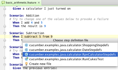 Cucumber for java and groovy in intellij idea 12 for Scenario template cucumber