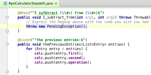 scenario template cucumber - cucumber for java and groovy in intellij idea 12