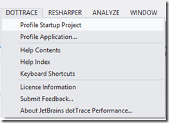 DotTrace Visual Studio 2012 integration