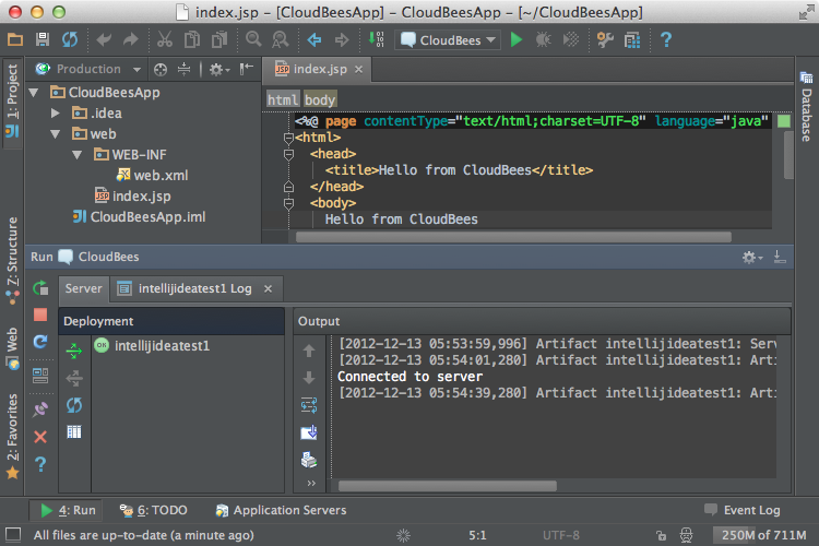 Deploy Web Apps to CloudBees from IntelliJ IDEA 12