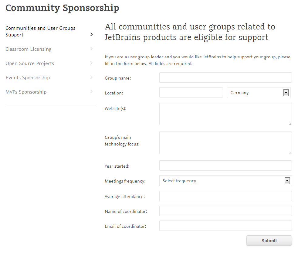 Supporting Communities, User Groups and Open Source ...