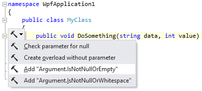 Add argument check for parameter