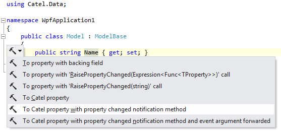 Context action to convert auto-property to Catel property