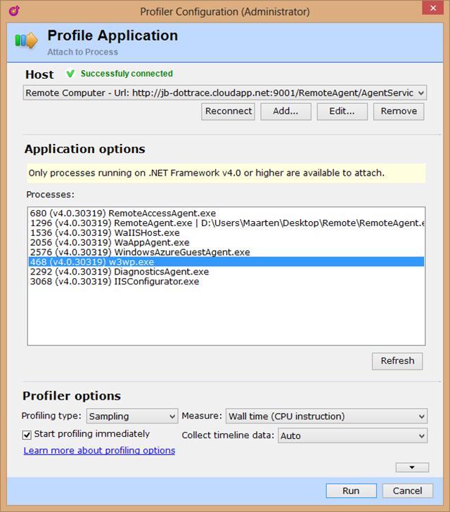 Profile application dotTrace