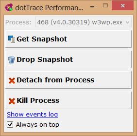 dotTrace get performance snapshot