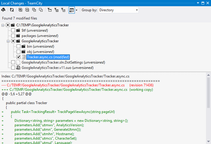 TeamCity plugin for Visual Studio -  NET Tools Blog NET