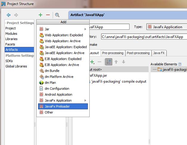 Packaging JavaFX 2 Applications in IntelliJ IDEA 12 1
