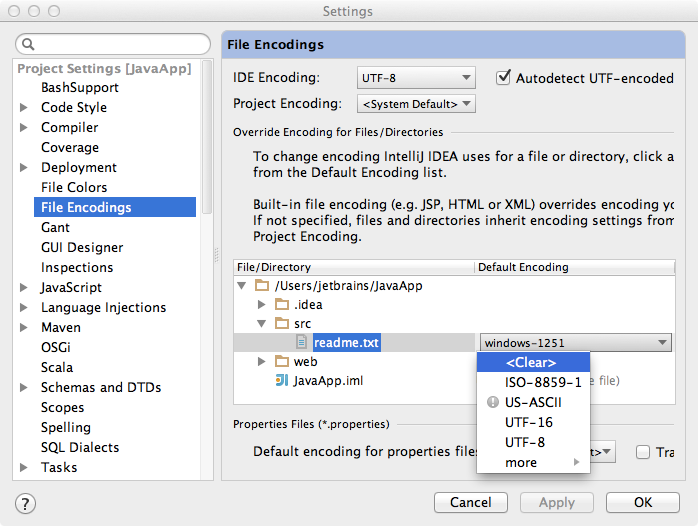 Use the UTF-8, Luke! File Encodings in IntelliJ IDEA | IntelliJ IDEA