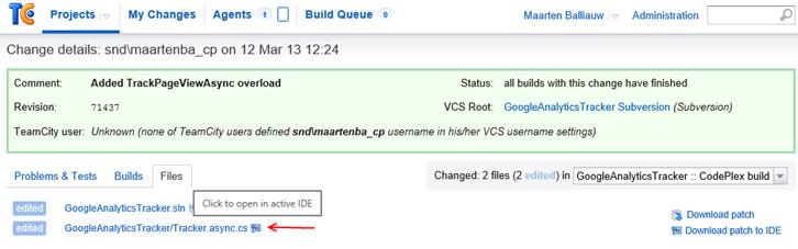 Open in IDE from TeamCity web UI