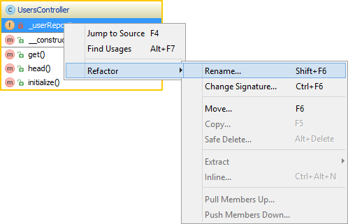 Working with uml class diagrams in phpstorm phpstorm blog many refactorings can easily be done from the uml class diagram need to rename a class or a member of that class select it and use the refactor rename ccuart Gallery