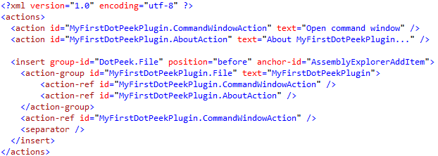 Actions.xml for plugins