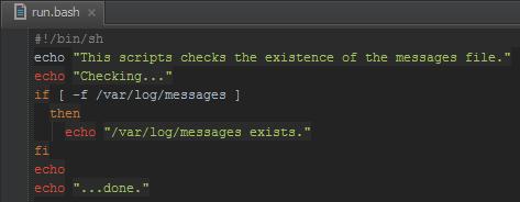 Shell script syntax highlighting in PhpStorm