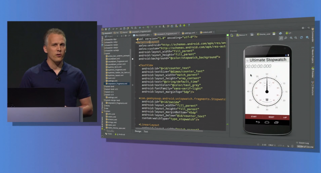 Android Studio (based on IntelliJ IDEA CE) Announcement at Google I/O 2013