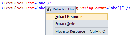 ReSharper 8 Extract XAML Resource refactoring