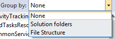 Architecture view grouping options