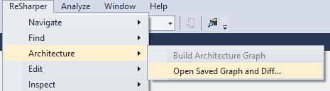 Open saved graph and diff menu
