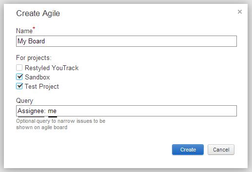 Creating new Agile board