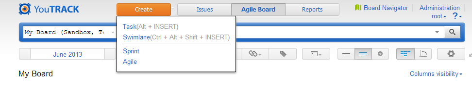 Creating new Agile board