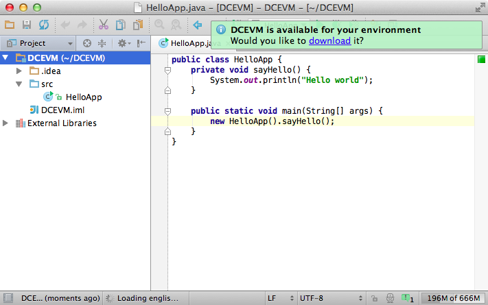 Get True Hot Swap in Java with DCEVM and IntelliJ IDEA