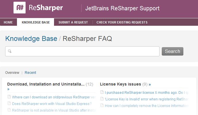 ReSharper FAQ
