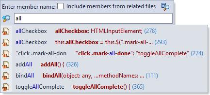 ReSharper 8.1 TypeScript Go to Member Navigation