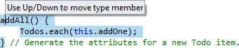 ReSharper 8.1 TypeScript Rearrange Code