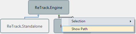 ReSharper Architecture View Show Path Context Menu