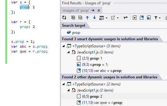 ReSharper 8.1 TypeScript Find Smart Usages