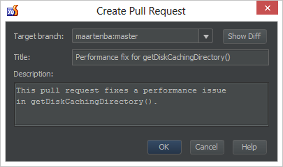 Create pull request