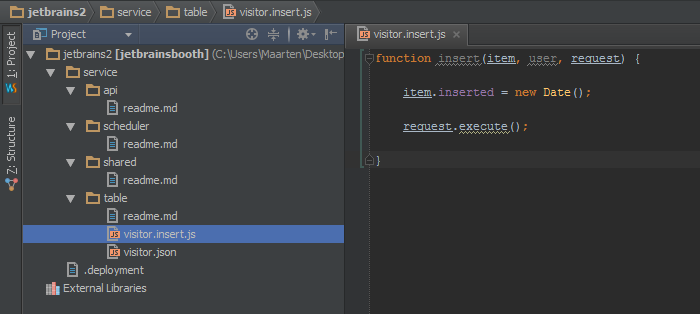 Editing Node.js in WebStorm